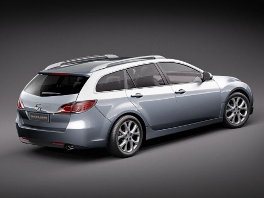 Mazda 6 Wagon 2008 3D Model $89 - .obj .max .lwo .fbx .c4d .oth - Free3D