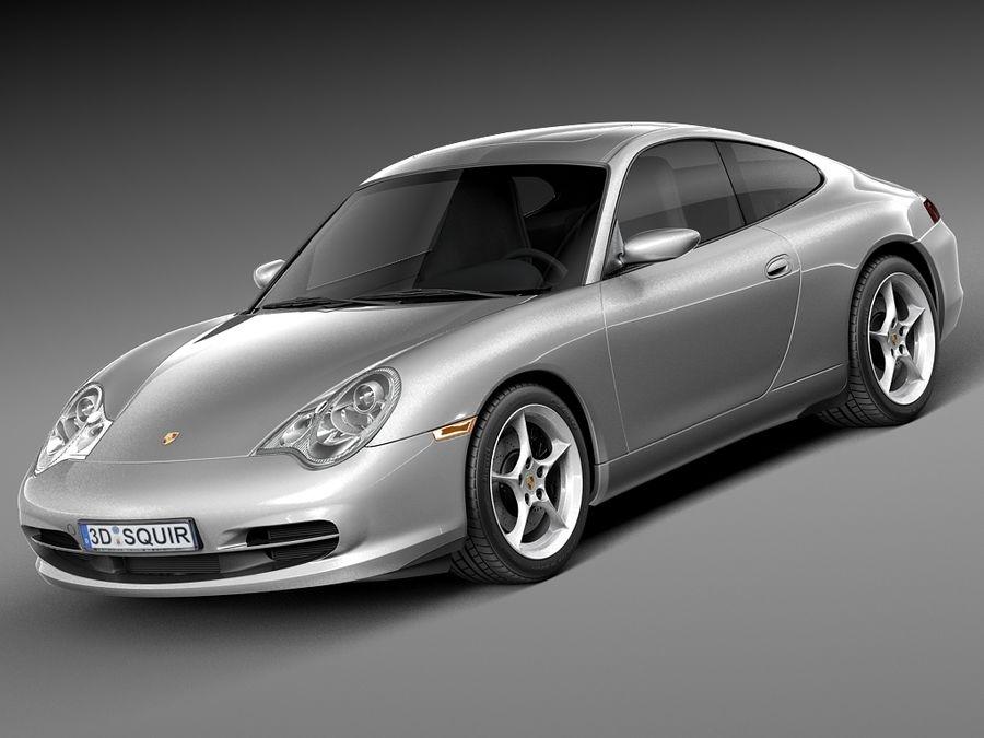 Porsche 911 996 Carrera 2003 royalty-free 3d model - Preview no. 1