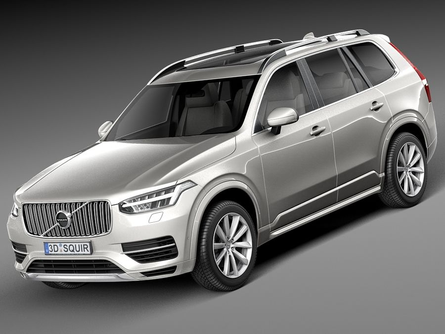 Volvo XC90 2015 royalty-free 3d model - Preview no. 1