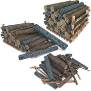 Wood Log Pack Low Poly 3d model