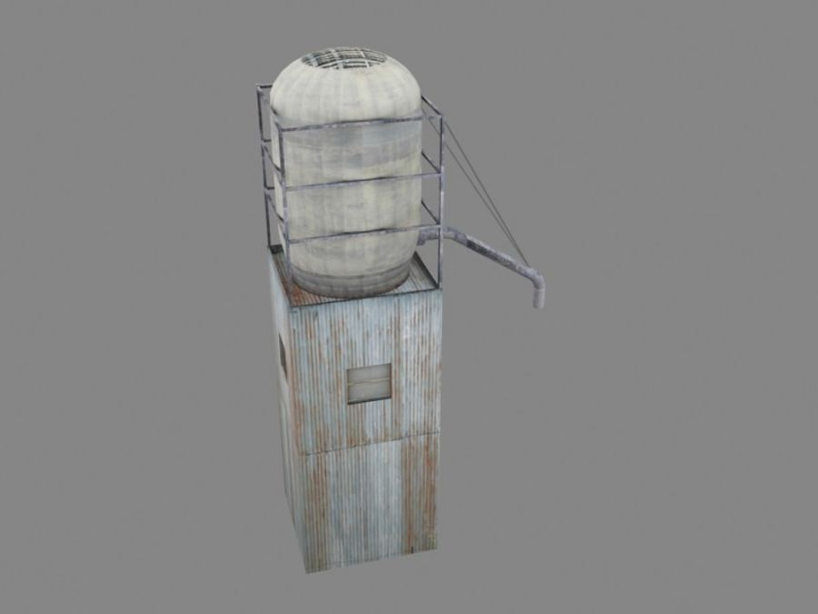 silo_01 royalty-free 3d model - Preview no. 3