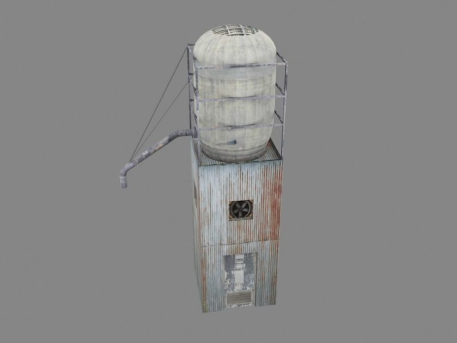 silo_01 royalty-free 3d model - Preview no. 2