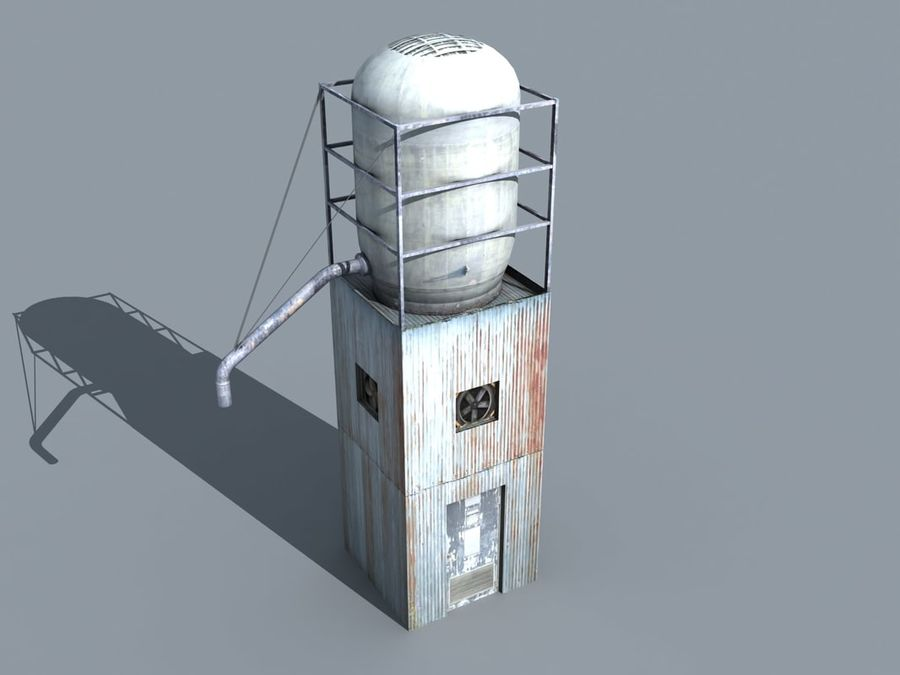 silo_01 royalty-free 3d model - Preview no. 1
