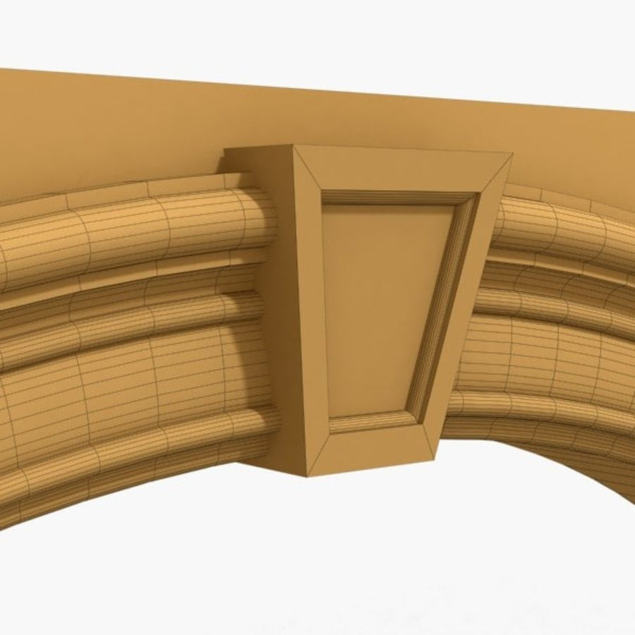 Arch 007 8ft - C2X2 royalty-free 3d model - Preview no. 4