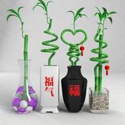 szczęśliwa bambusowa roślina 3d model