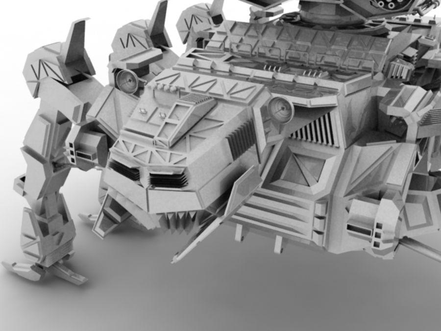 Mech robot royalty-free 3d model - Preview no. 4