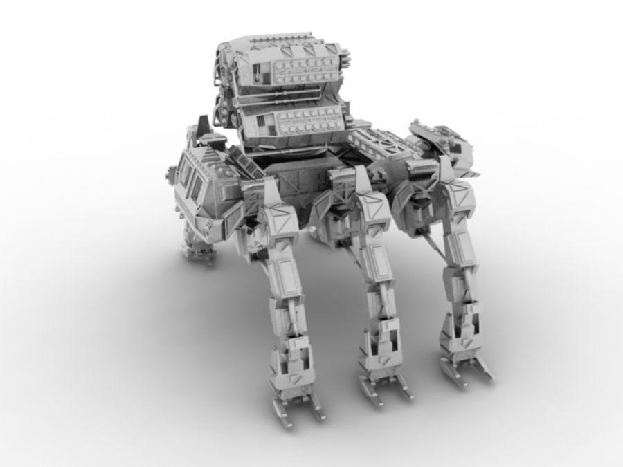 Mech robot royalty-free 3d model - Preview no. 5