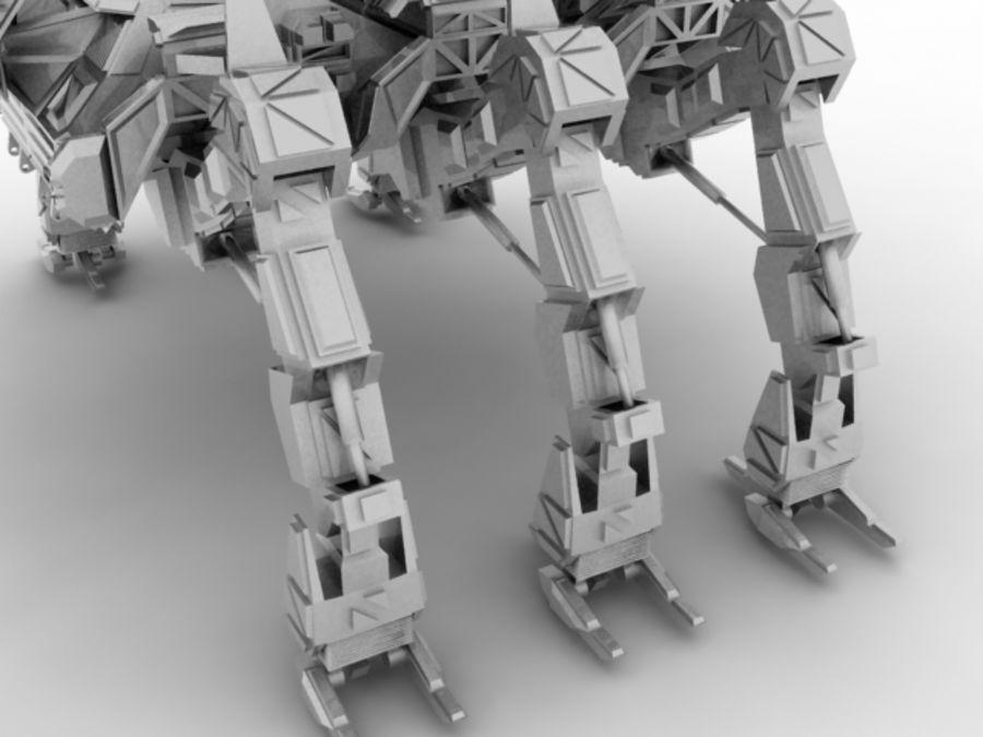 Mech robot royalty-free 3d model - Preview no. 2