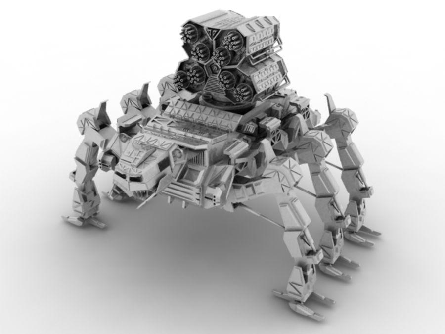Mech robot royalty-free 3d model - Preview no. 1