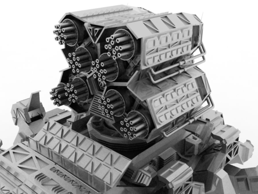 Mech robot royalty-free 3d model - Preview no. 3