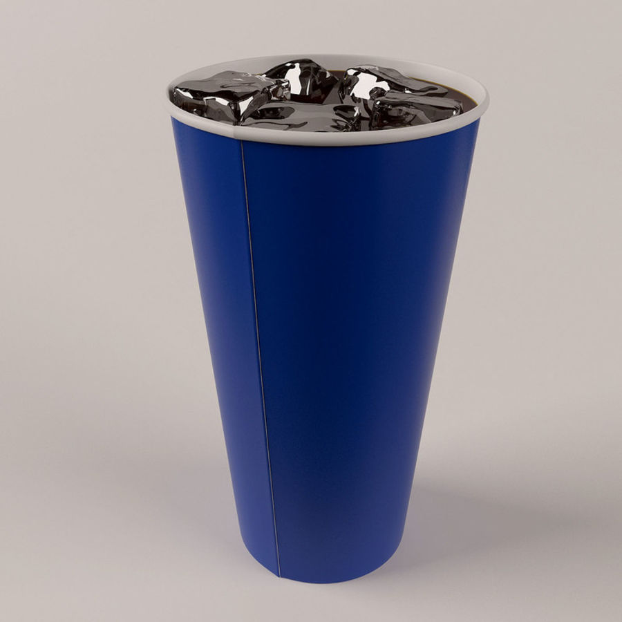 Paper Cup With Ice royalty-free 3d model - Preview no. 9
