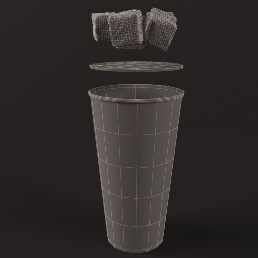 Paper Cup With Ice royalty-free 3d model - Preview no. 16