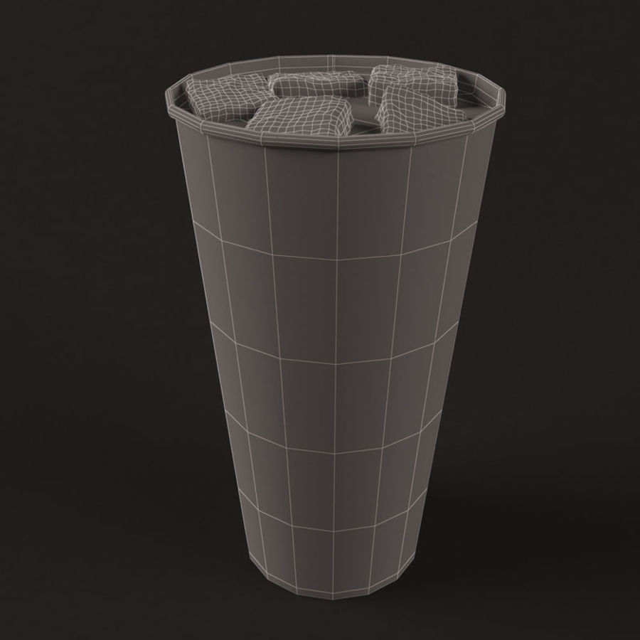 Paper Cup With Ice royalty-free 3d model - Preview no. 4