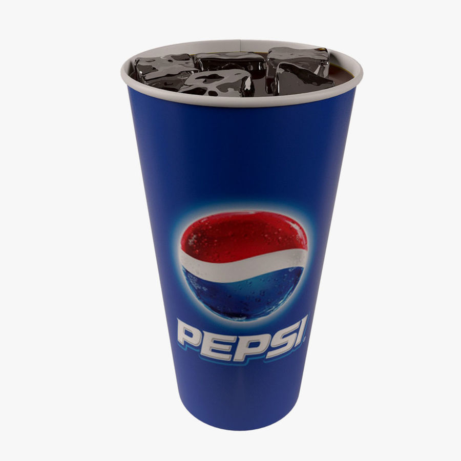 Paper Cup With Ice royalty-free 3d model - Preview no. 1
