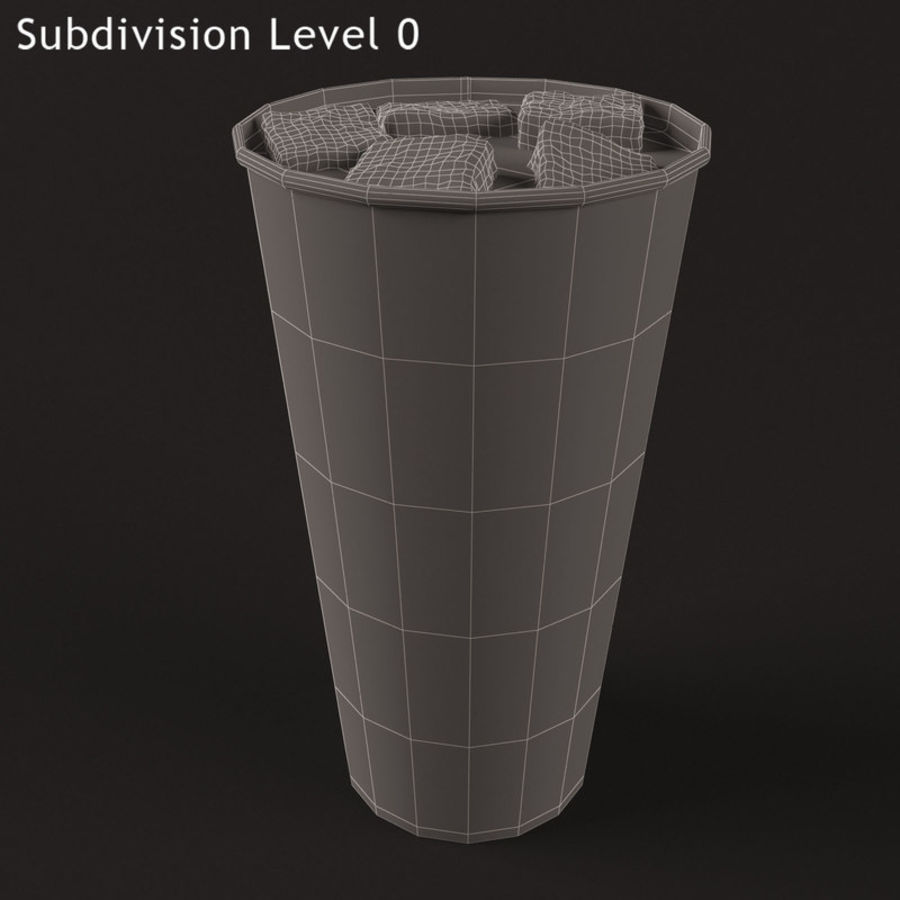 Paper Cup With Ice royalty-free 3d model - Preview no. 6