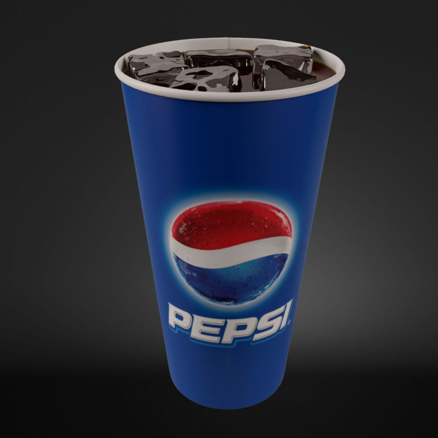 Paper Cup With Ice royalty-free 3d model - Preview no. 3