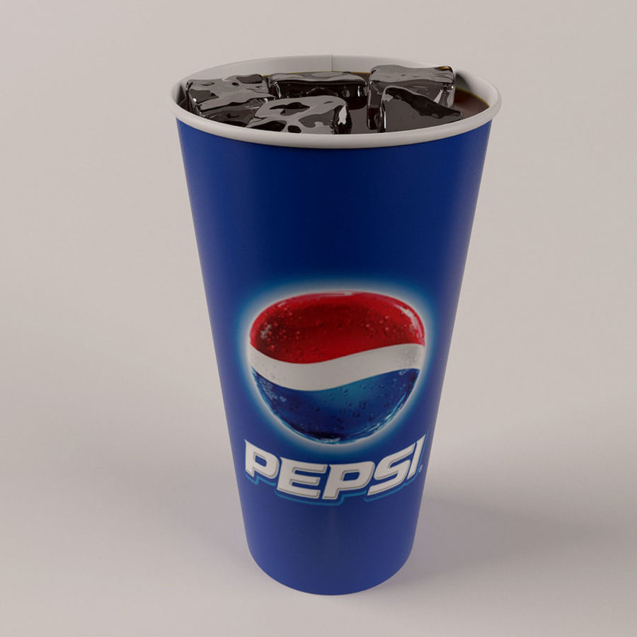 Paper Cup With Ice royalty-free 3d model - Preview no. 2