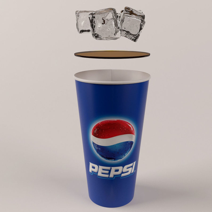 Paper Cup With Ice royalty-free 3d model - Preview no. 15