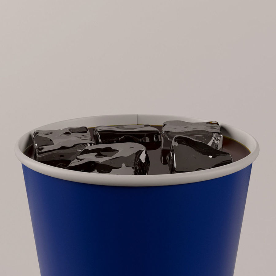 Paper Cup With Ice royalty-free 3d model - Preview no. 11