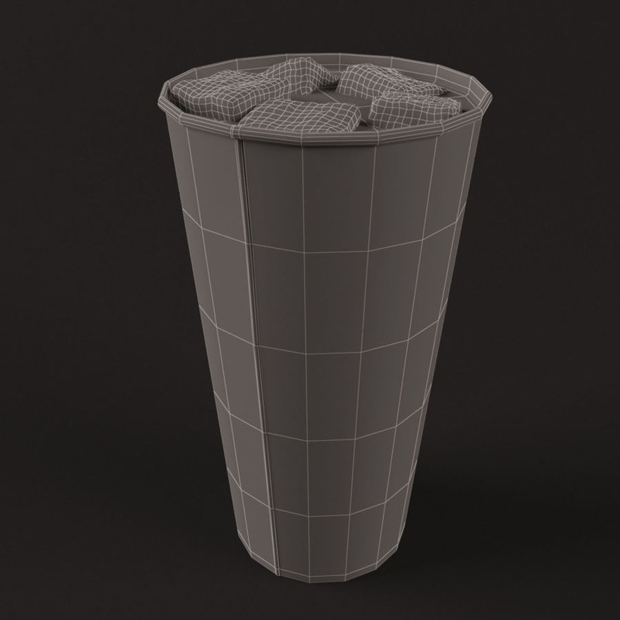 Paper Cup With Ice royalty-free 3d model - Preview no. 10