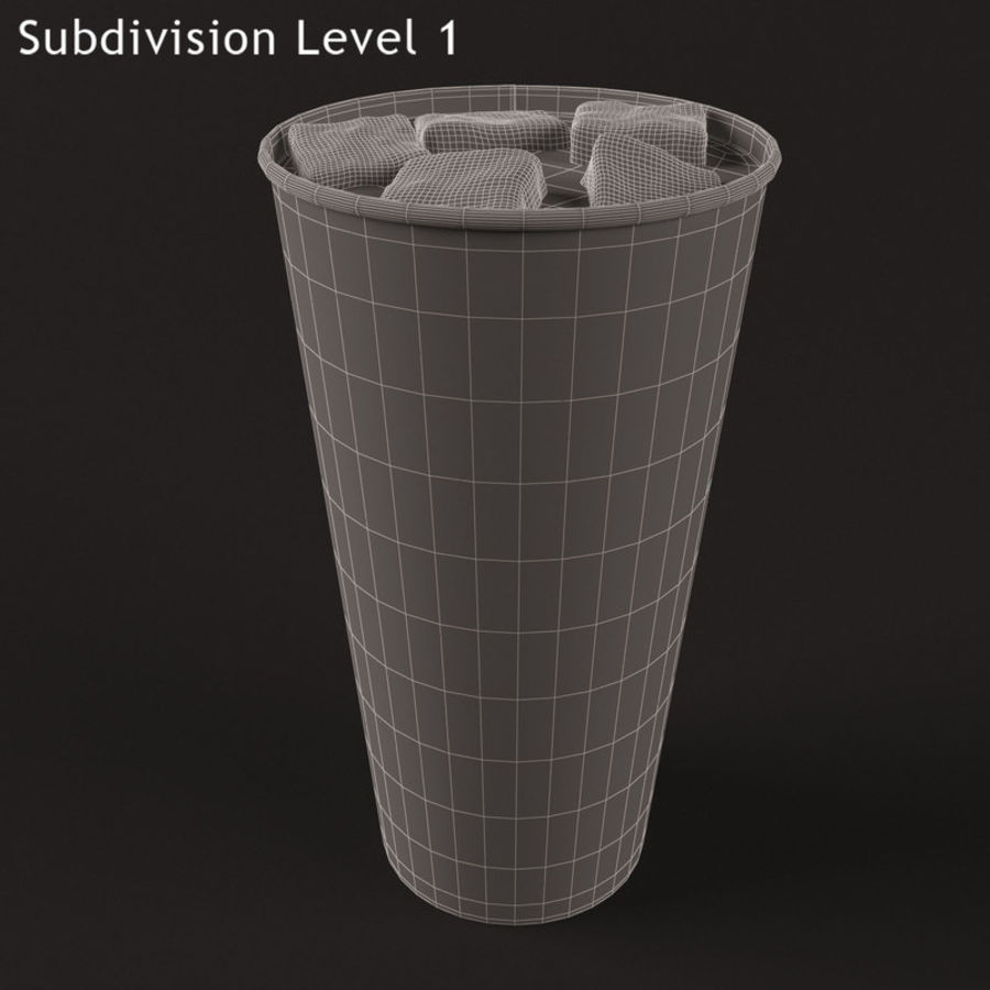 Paper Cup With Ice royalty-free 3d model - Preview no. 7