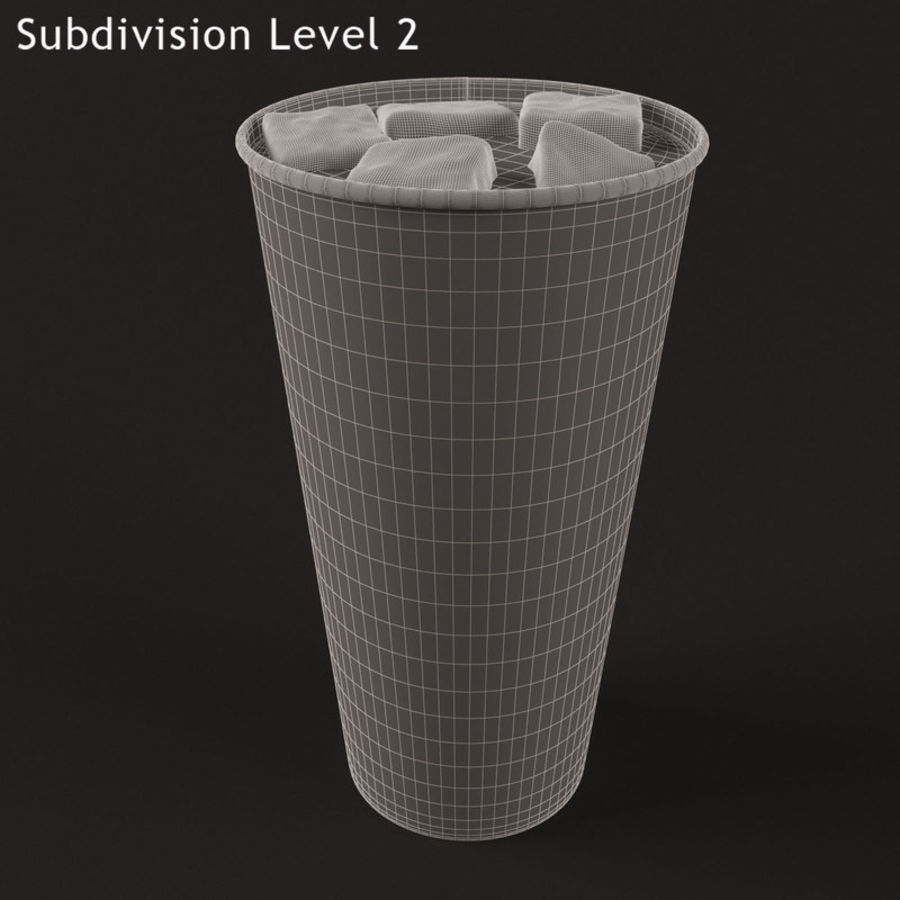 Paper Cup With Ice royalty-free 3d model - Preview no. 8