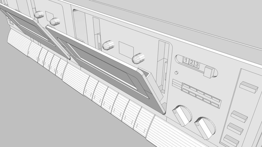 Dual Cassette Player / Recorder royalty-free 3d model - Preview no. 31