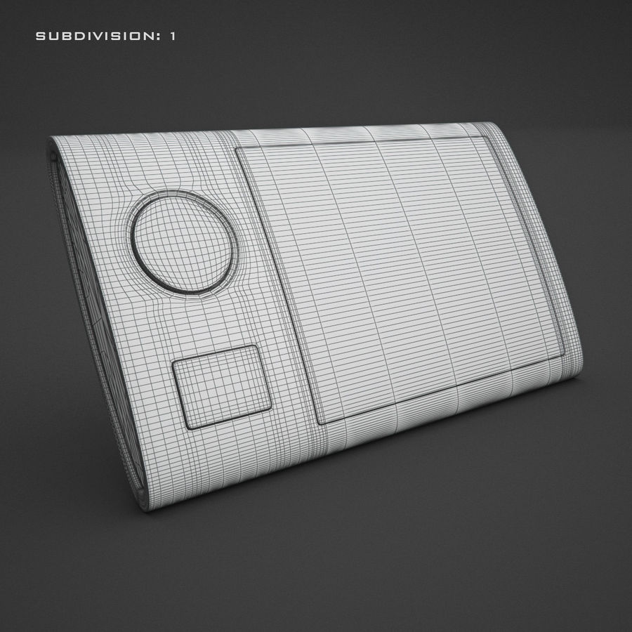 Домофон KENWEI royalty-free 3d model - Preview no. 15