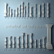peterhof set balustrades 3d model