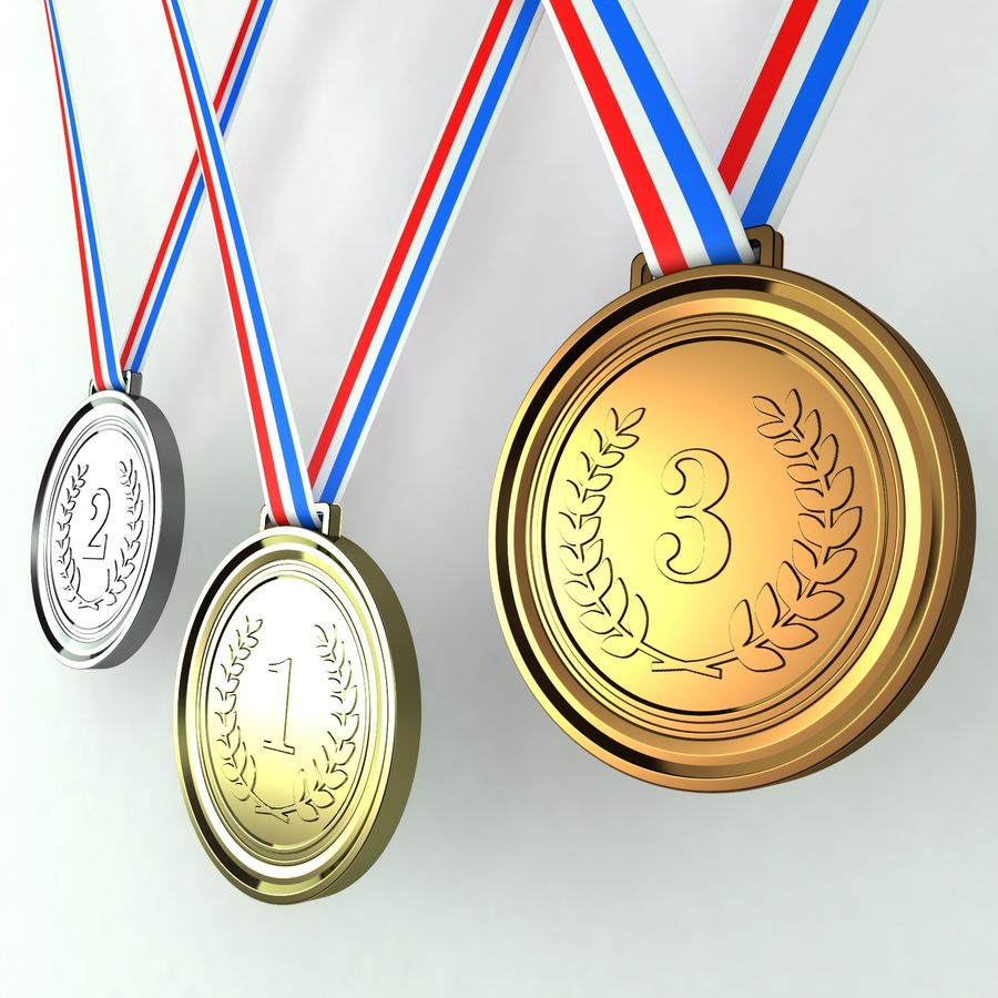 Medals royalty-free 3d model - Preview no. 2