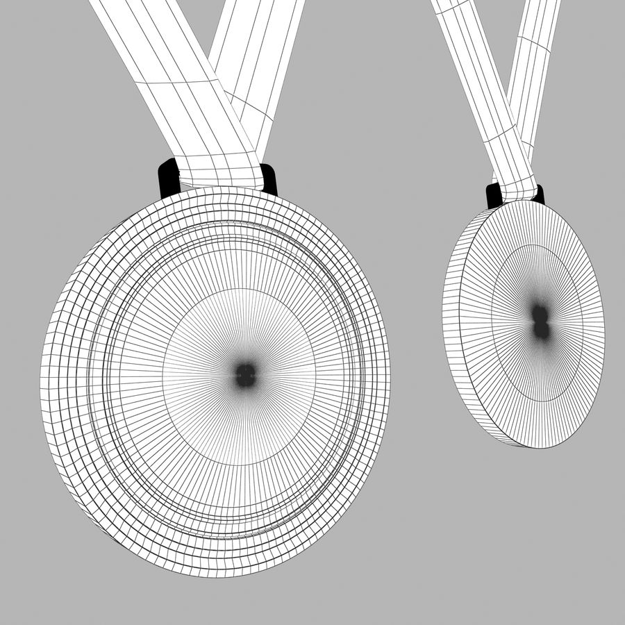Medals royalty-free 3d model - Preview no. 10