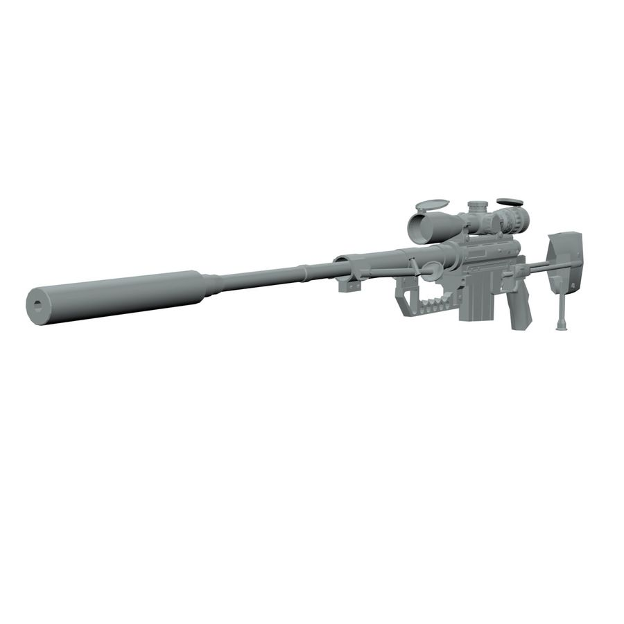 Cheytac M200 Intervention Sniper Rifle 3D Model $12 -  obj