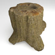 Tree Stump 2 Low Poly 3d model