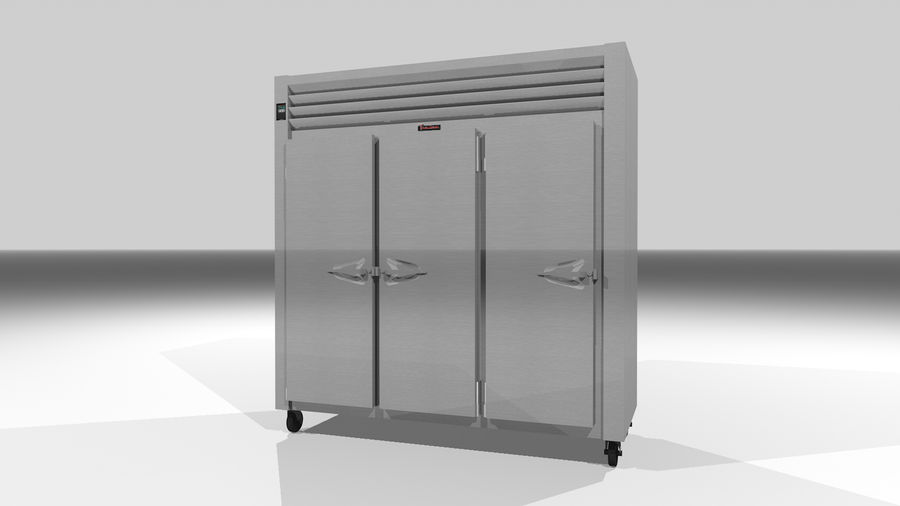 Reach In Cooler: Restaurant Style royalty-free 3d model - Preview no. 2