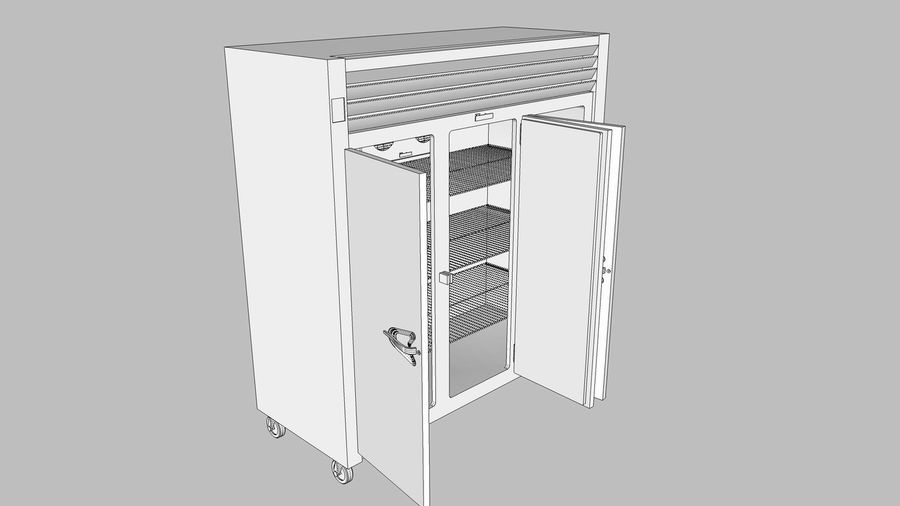 Reach In Cooler: Restaurant Style royalty-free 3d model - Preview no. 22