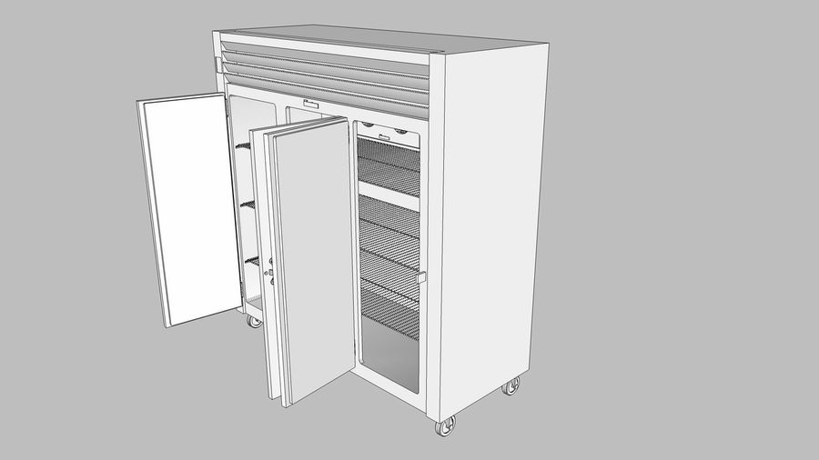 Reach In Cooler: Restaurant Style royalty-free 3d model - Preview no. 21