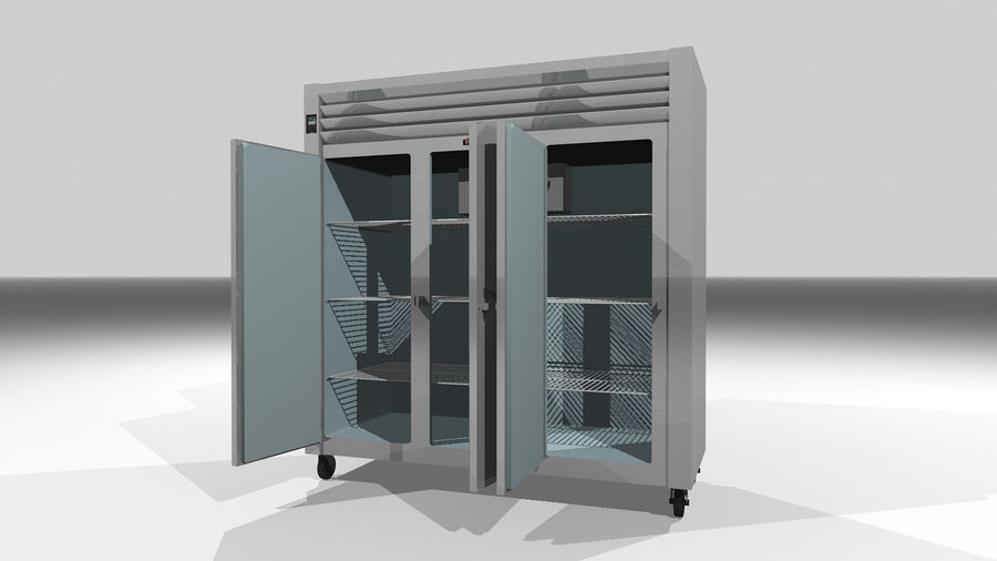 Reach In Cooler: Restaurant Style royalty-free 3d model - Preview no. 3