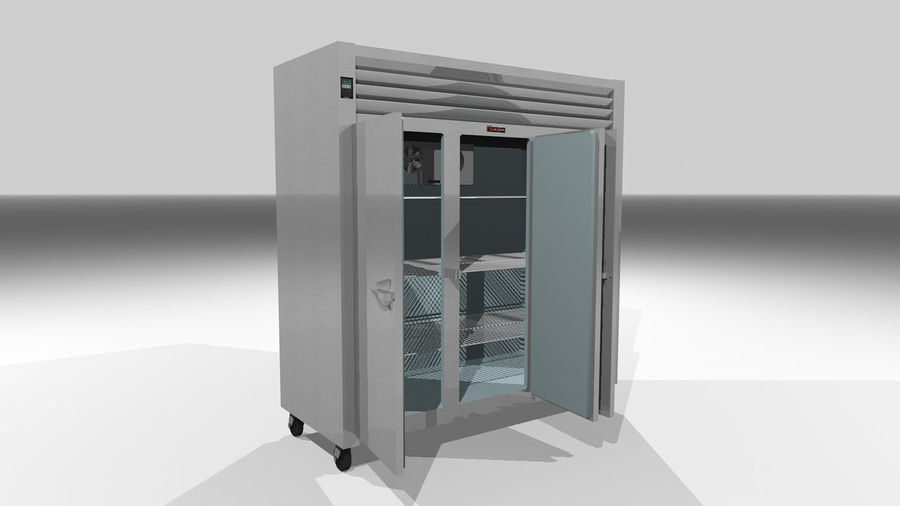 Reach In Cooler: Restaurant Style royalty-free 3d model - Preview no. 5