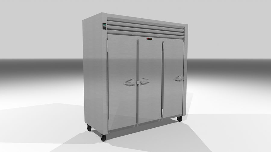 Reach In Cooler: Restaurant Style royalty-free 3d model - Preview no. 4