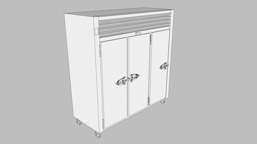 Reach In Cooler: Restaurant Style royalty-free 3d model - Preview no. 15