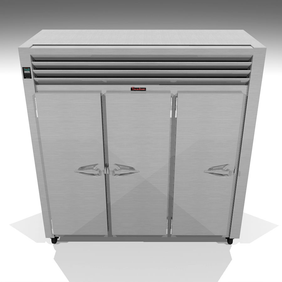 Reach In Cooler: Restaurant Style royalty-free 3d model - Preview no. 1