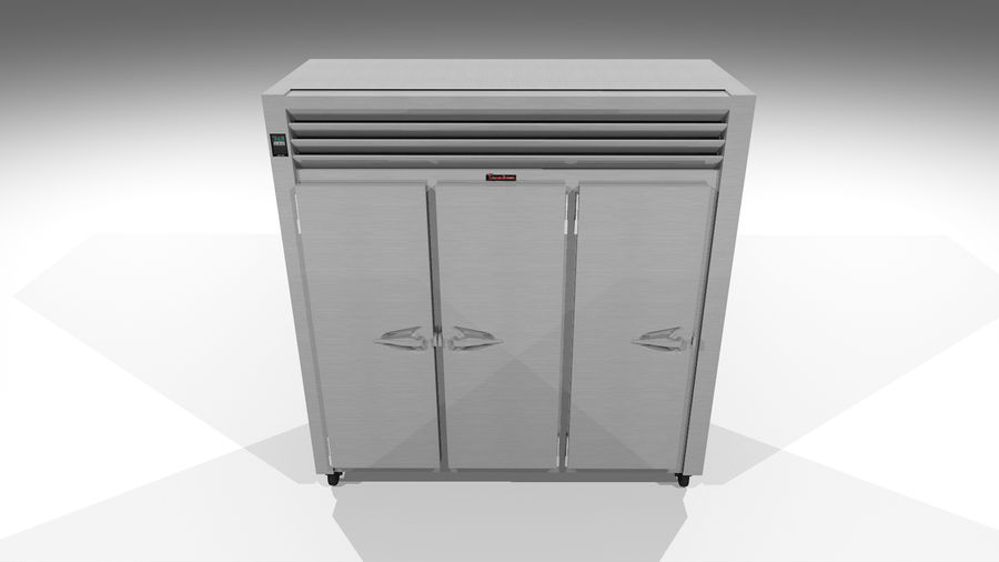 Reach In Cooler: Restaurant Style royalty-free 3d model - Preview no. 6