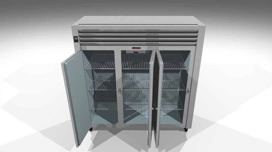 Reach In Cooler: Restaurant Style royalty-free 3d model - Preview no. 7