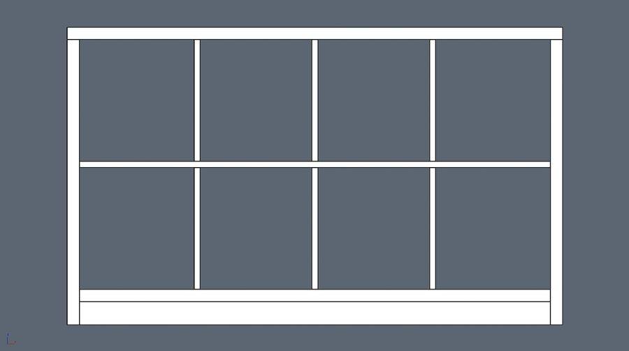 Soho shelf royalty-free 3d model - Preview no. 5
