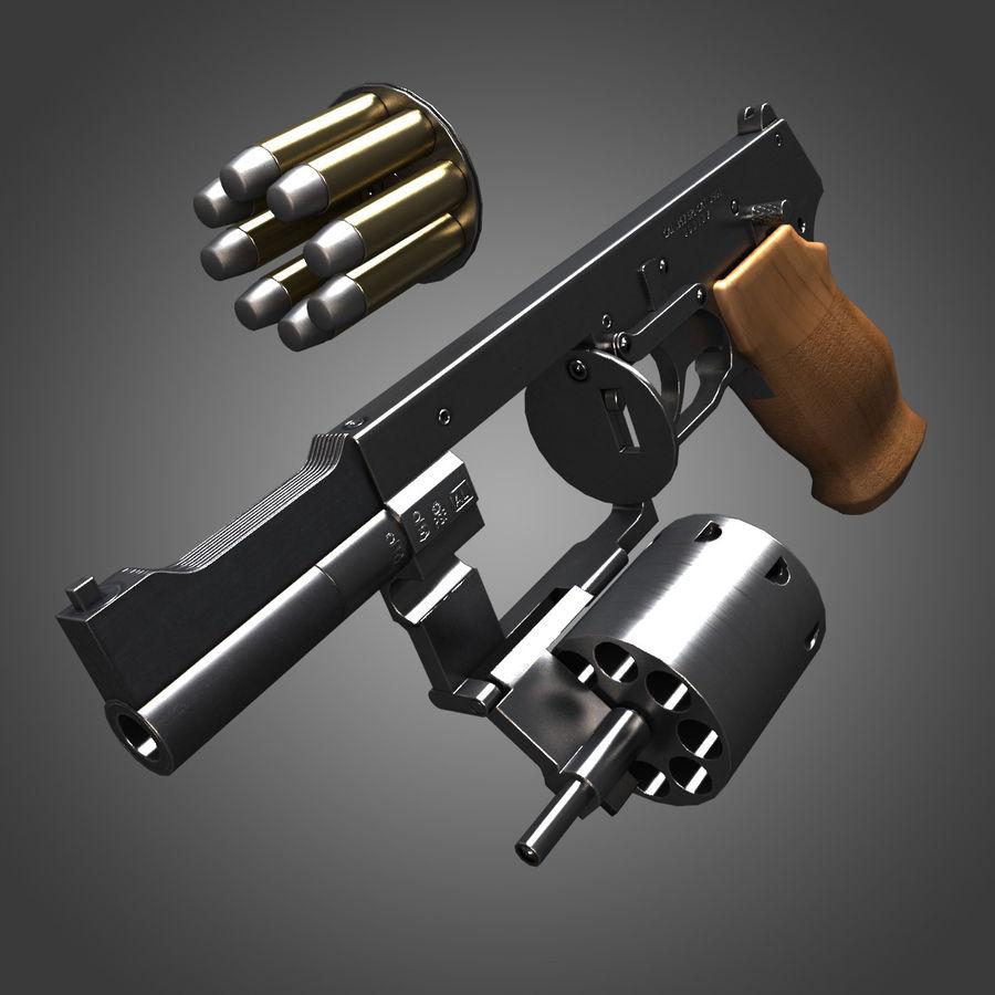 Revolver Mateba MTR-8 royalty-free 3d model - Preview no. 5