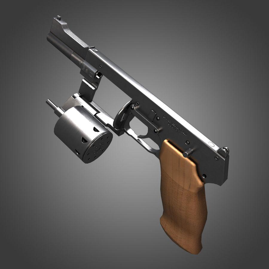 Revolver Mateba MTR-8 royalty-free 3d model - Preview no. 4