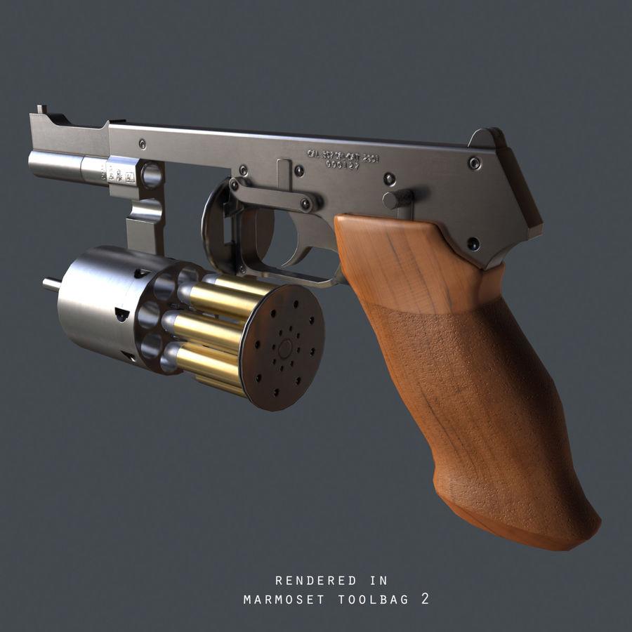 Revolver Mateba MTR-8 royalty-free 3d model - Preview no. 8