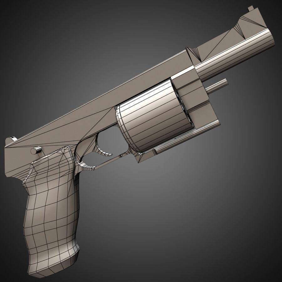 Revolver Mateba MTR-8 royalty-free 3d model - Preview no. 10