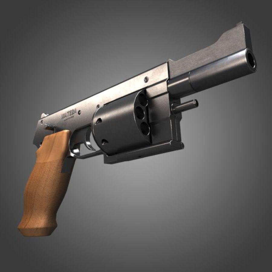 Revolver Mateba MTR-8 royalty-free 3d model - Preview no. 3