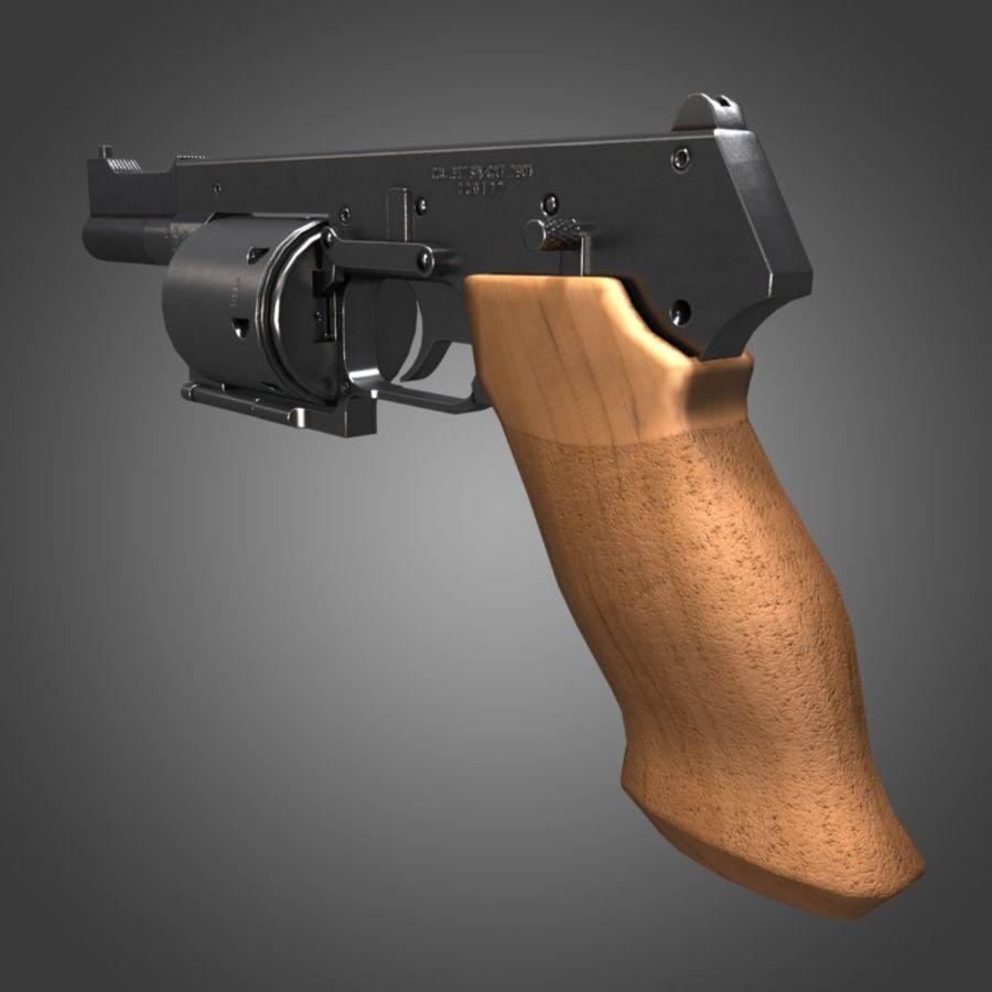 Revolver Mateba MTR-8 royalty-free 3d model - Preview no. 2